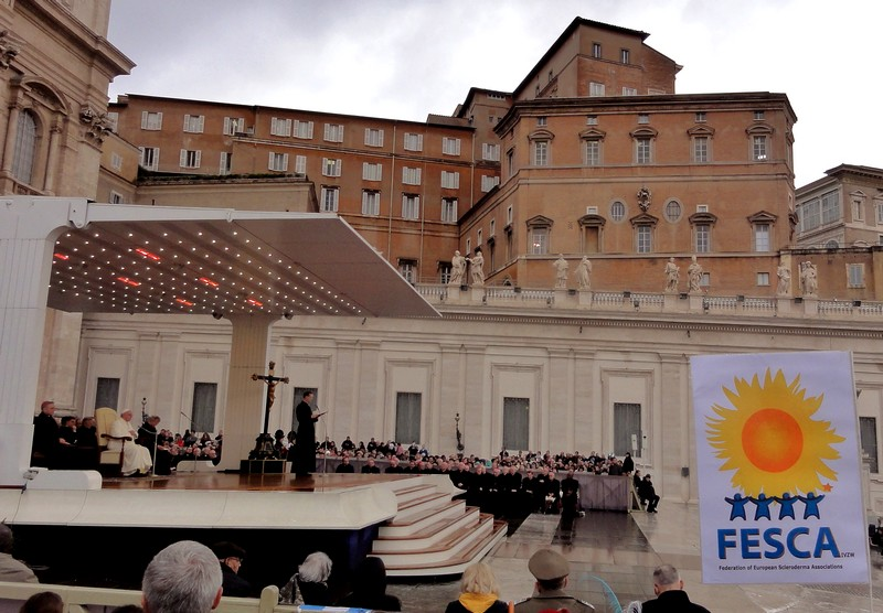 Pope blessing Scleroderma Patients in Rome
