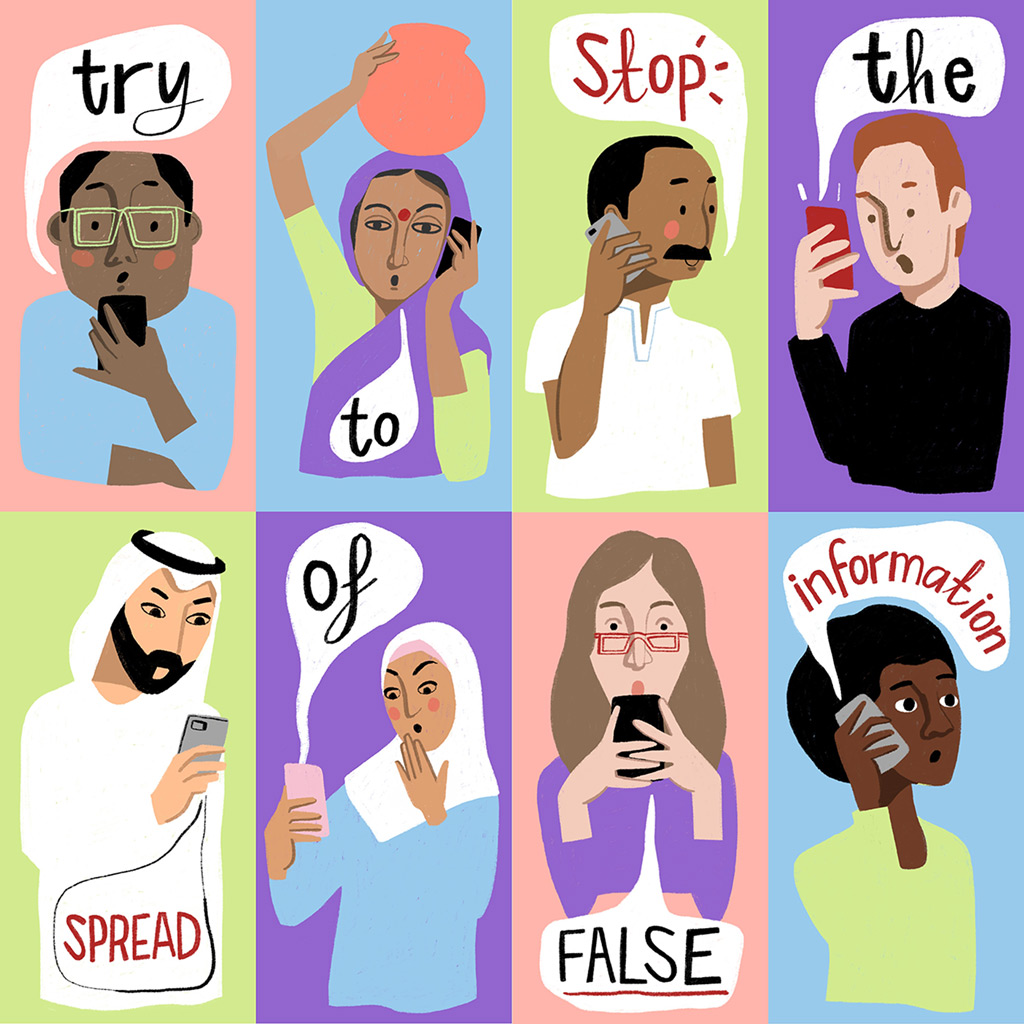 COVID-19: Try to stop the spread of false information